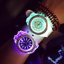 Dámské Sportovní hodinky Křemenný LED Silikon Kapela Náramkové hodinky / Třpyt Černá / Bílá