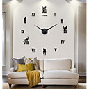 Hot Sell New Modern Design High Quality Silent 3D DIY Wall Clock 12S020