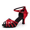 Satinado superior zapatos de baile latino de la mujer de moda personalizados (más colores)