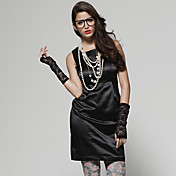 tsの綿/スプリットバックscoopneckノースリーブの鉛筆の服/婦人服