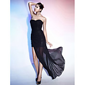 TS Couture® Cocktail Party / Formal Evening Dress - Black Plus Sizes / Petite Sheath/Column Strapless / Sweetheart Floor-length / AsymmetricalChiffon