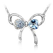 collar de cristal de arco romántico