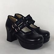 Cipők Klasszikus és hagyományos Lolita Lolita Tűsarok Cipők Egyszínű 7.5 CM Fehér / Fekete / Rózsaszín Mert Női Műbőr/Poliuretán bőr