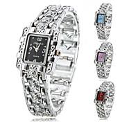 女性用 ファッションウォッチ ブレスレットウォッチ クォーツ 合金 バンド 光沢タイプ エレガント腕時計 シルバー