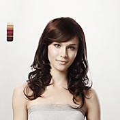 16inch sin tapa cuerpo largo y rizado de cabello humano marrón 100% 5 colores para elegir