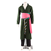 Inspirado por One Piece Roronoa Zoro Animé Disfraces de cosplay Trajes Cosplay Kimono Retazos Manga LargaPantalones Accesorios de Cintura