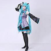 Inspirado por Vocaloid Hatsune Miku Vídeo Juego Disfraces de cosplay Trajes Cosplay Vestidos Sin MangasBlusa Falda Corbata Mangas