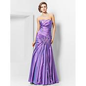 Sirena / trompeta sin tirantes palabra de longitud tafetán vestido de fiesta con rebordear por ts couture ®