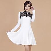 ZHI YUAN pliegues de encaje vestido de giro (Más colores)