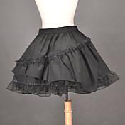 Falda Lolita Clásica y Tradicional Lolita Cosplay Vestido  de Lolita Un Color Longitud Mediana Falda por Algodón