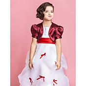 Chales para Niños / Envolturas de boda Boleros Manga corta Satén Negro / Azul Piscina / Blanco / Champán / Fucsia / Rosa FiestaMangas