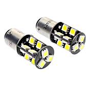 1157 / BA15d 3,5 w 19x5050smd 6000-6500k 220-260lm LED bílé světlo auto lampy (DC 12V, 1-pair)