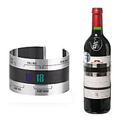 ビールホームバーのツールのための創造的なステンレス鋼赤ワインブレスレット計温度