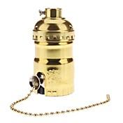E26 zlatá barva držáku patice základna žárovky lampa s vypínačem