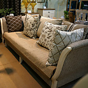 怡澜棉质包边沙发垫70*180cm华夫格浅咖