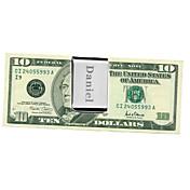 Darovi Komad / set Kopče za novac Moderna Vjenčanje Godišnjica Rođendan Posao Nehrđajući čelik Personalized Kopče za novac Srebro Poli Bag