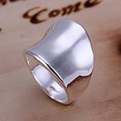 指輪 日常 ジュエリー 合金 女性 バンドリング 1個,8 シルバー