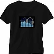 交換用の音と音楽活性スペクトルVUメーターELビジュアライザ(非は、T-shritワイシャツ帽子ボタンが含まれていた)