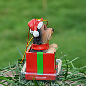 Yorkshire lindo decorativo Ornamento del regalo de Navidad para los amantes de mascotas