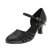 Non Prilagodljiv - Ženske - Plesne cipele - Moderni plesovi / Balska sala / Cipele za vježbanje - Satin - Spaljenom Heel - Crn