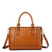 MEFAs Moderne Genuine Leather Tote / Crossbody-Tasche (Camel)