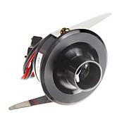 1W 110LM 8000-10000K blanca fría del espejo LED del gabinete del vino de la lámpara-Negro (AC 90-240V)