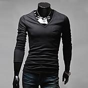 A&Wメンズブラック全試合ビッグサイズ長袖VネックTシャツ