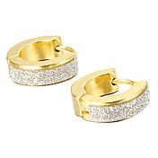 Sitne naušnice Moda Tikovina Titanium Steel Gold/Silver Jewelry Za Party Dnevno Kauzalni Božićni pokloni