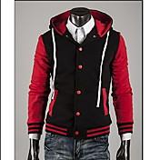 Zhelin Hombres camiseta contraste Fashion Coat Color de la sudadera con capucha de la hebilla de color al azar