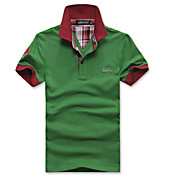 幸せな時間ラペルステッチカラーシャツ(グリーン)