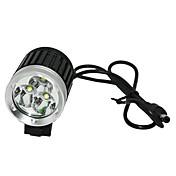 Linternas de Cabeza / Luces para bicicleta Cree XM-L T6 Ciclismo Recargable / Control de Ángulo 18650.0 2400-3000 LumensBatería /