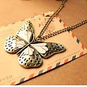 Collar pendiente de la mariposa vendimia de las mujeres