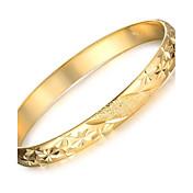Dame Manchetarmbånd Unikt design Mode Guldbelagt Muslingeskal 18K guld Smykker Guld Smykker For Bryllup Fest Daglig Afslappet 1 Stk.