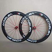 udelsa - WH-R60-c 60mm 700C täynnä hiilikuitu clincher maantiepyörän / polkupyörän pyöräkertoja