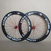 udelsa - wh-r60-c 60mm 700c del camino de la fibra llena del carbón del remachador de juegos de ruedas de la bici / de la bicicleta