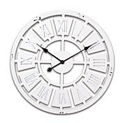 """24 """"H Blanco Estilo Moderno Madera Reloj de pared"""