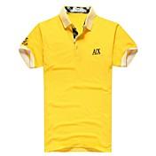 Hombres dan vuelta-abajo de manga corta Polo T Shirt