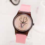 岩だらけの女性のファッションレジャー鹿クォーツ時計(アソートカラー)