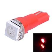 GC® T5 0.25W 14LM 1x5050SMD LED Red Light for Car Indicate Light Lamp (DC 12V)