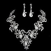 Conjunto de joyas De mujeres Boda / Ocasión especial Sets de Joya Perla Artificial / Diamantes Sintéticos Collares / Pendientes Plata