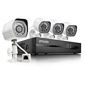 4 720夜のIPカメラとzmodo®4chのHD NVR spoeセキュリティシステム