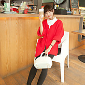 informal color sólido a largo géneros de punto de las mujeres de una sola xuan