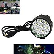 Linternas de Cabeza Luces para bicicleta Luz Frontal para Bicicleta LED Cree XM-L T6 Ciclismo Recargable Control de Ángulo 18650.0 7000
