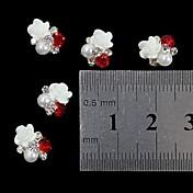 10pcs 3d ruža cvijet biser Rhinestone DIY pribor nail art ukras