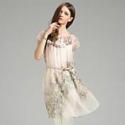 jianzi女性のシルク100%エレガントなドレス