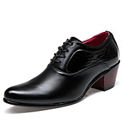 Hombre Zapatos Semicuero Primavera Verano Otoño Invierno Confort Oxfords Para Casual Negro