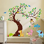 家の装飾のための木の壁のステッカー売れ筋ウォールステッカーリムーバブル猿をzooyoo®