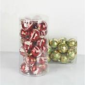 24 PC adornos navideños que cuelgan bolas de galvanoplastia gota (φ = 7 cm)
