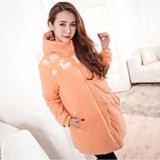 maternidad 5colors invierno cremallera con capucha parka chaqueta outwear