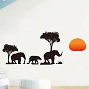 壁のステッカー壁のステッカー、壁画アフリカ象の家の装飾ポリ塩化ビニールの壁のステッカー